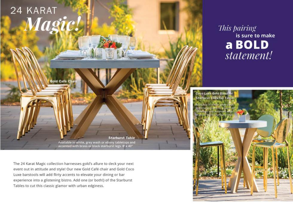 Gold Cafe Chair Rentals Bright Rentals