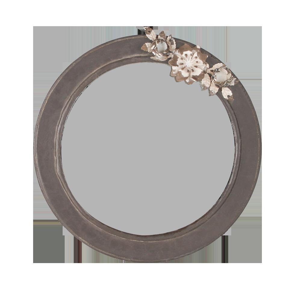 Round Mirror With Metal Flowers 12 Quot Rentals Bright Rentals