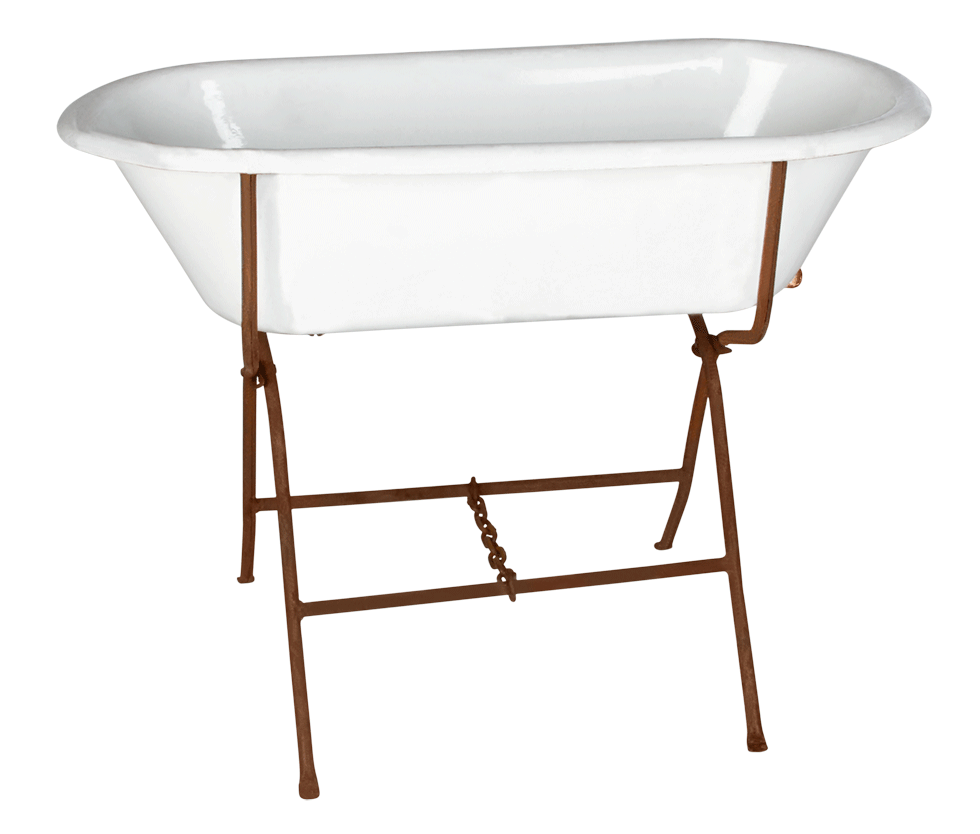 bright event rentals baby bath tub with rustic stand 18 x 39 rentals. Black Bedroom Furniture Sets. Home Design Ideas