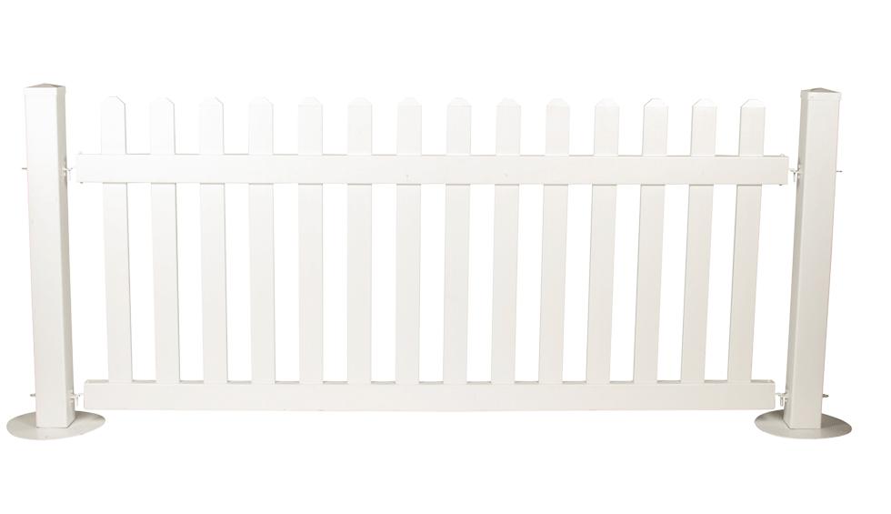 White Vinyl Picket Fence 42 Quot X 96 Quot Long Rentals Bright