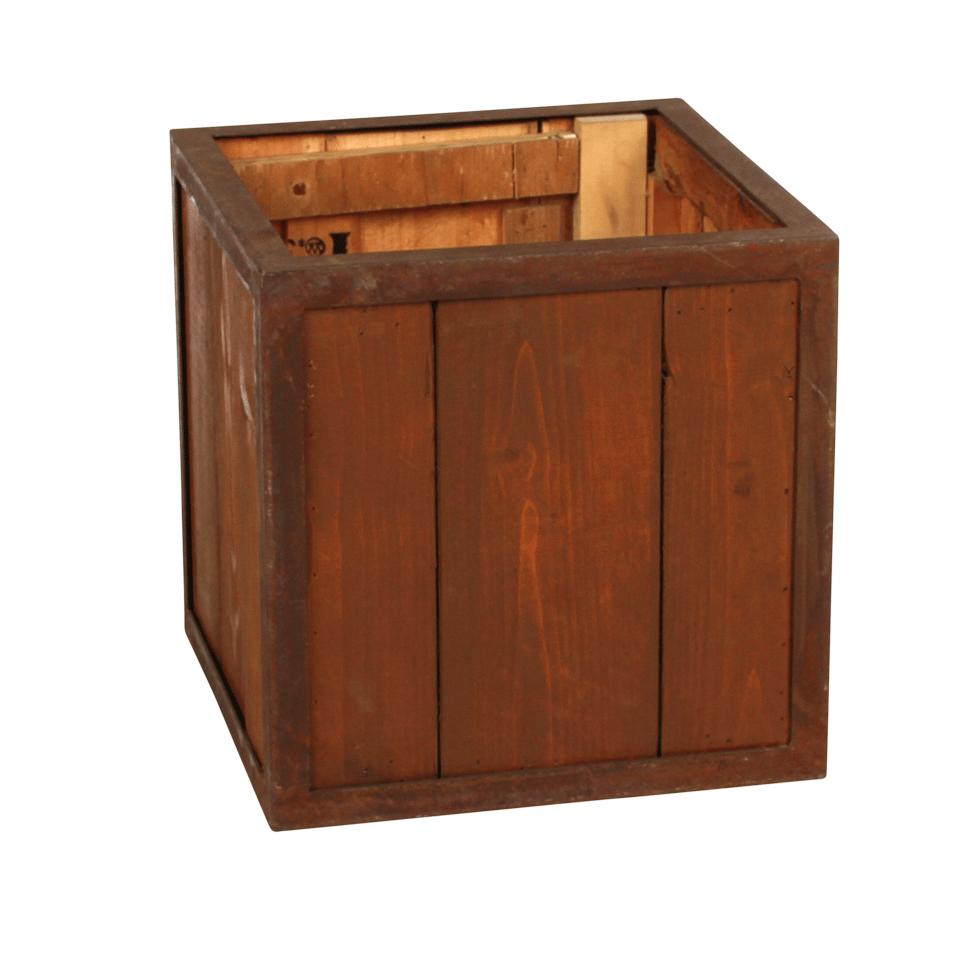 Rustic Amp Oak Planter Box 14 Quot X 14 Quot Rentals Bright Rentals