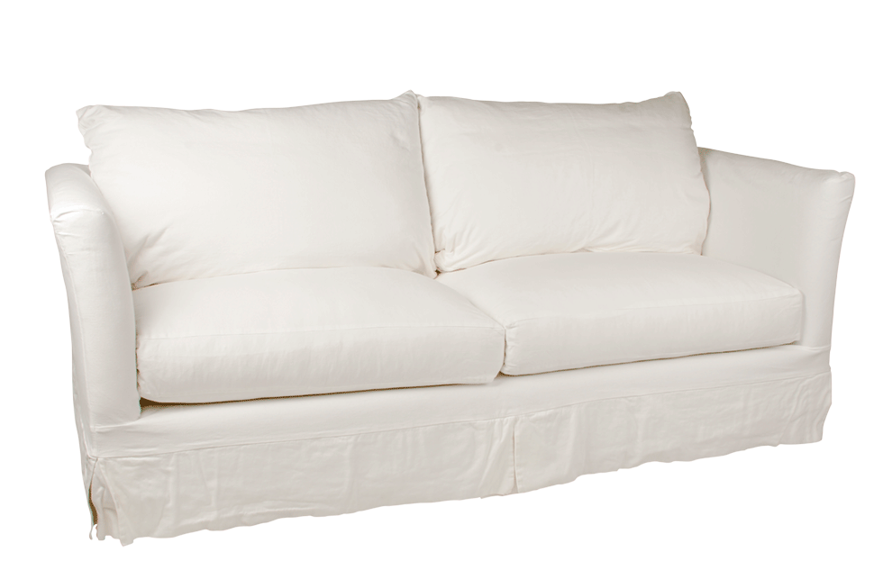 Charmant VINTAGE WHITE CANVAS SOFA