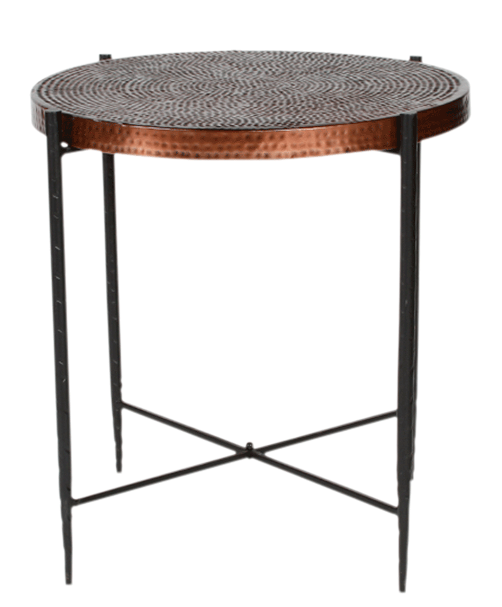 """RAVI COPPER END TABLE 22"""" X 24"""" HIGH Rentals"""