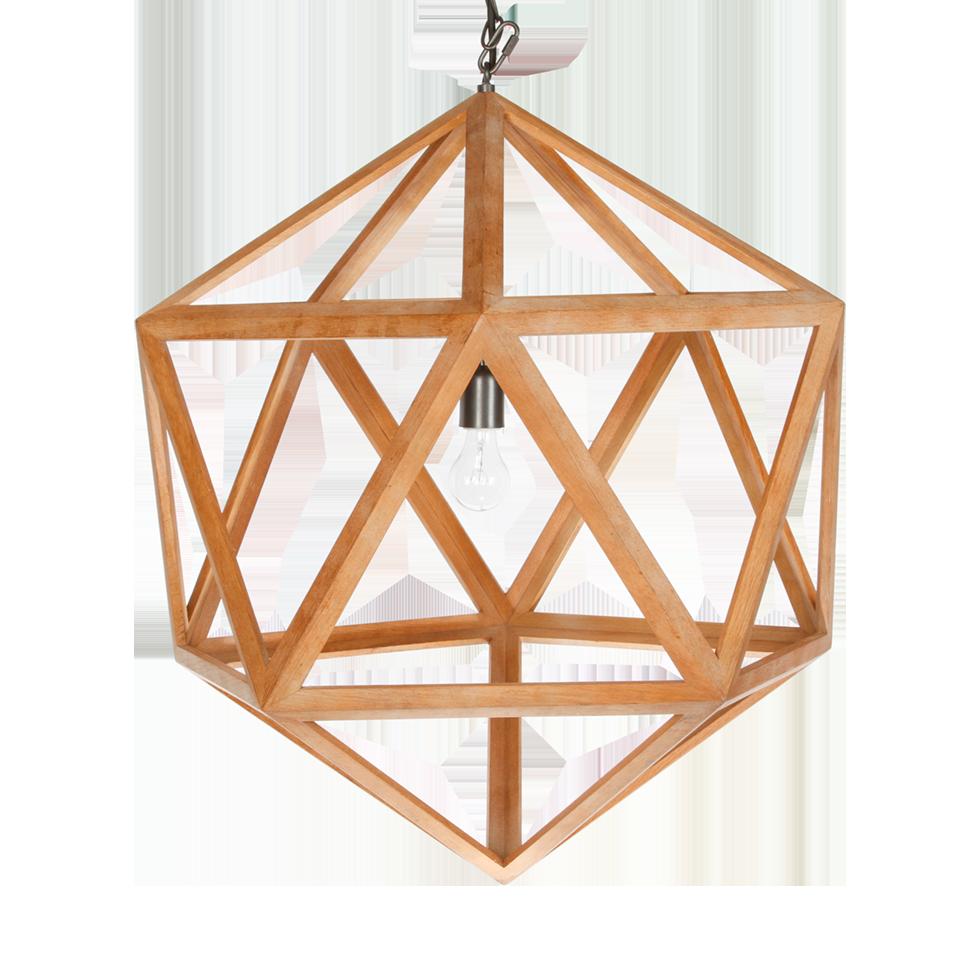 Wood Polyhedron Chandelier Rental Bright Rentals