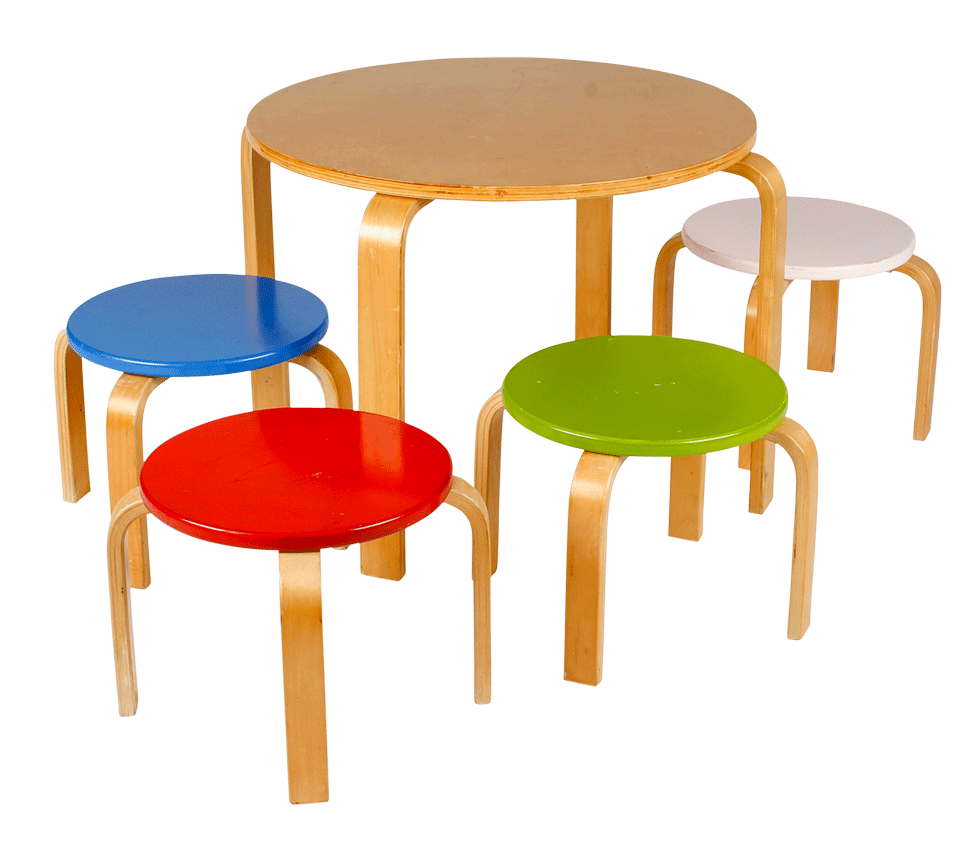 Child S Round Table With 4 Chairs Rentals Bright Rentals