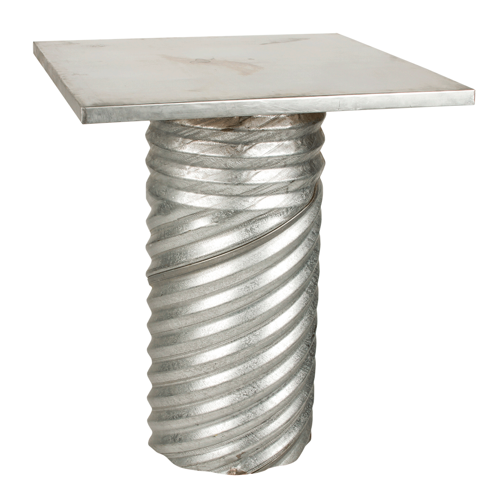 Corrugated Table W Metal Top 36 Quot Square X 42 Quot High Rentals