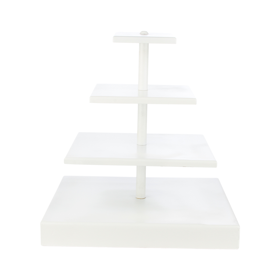 White Square Cupcake Stand 4 Tier 17 Quot Rentals Bright Rentals
