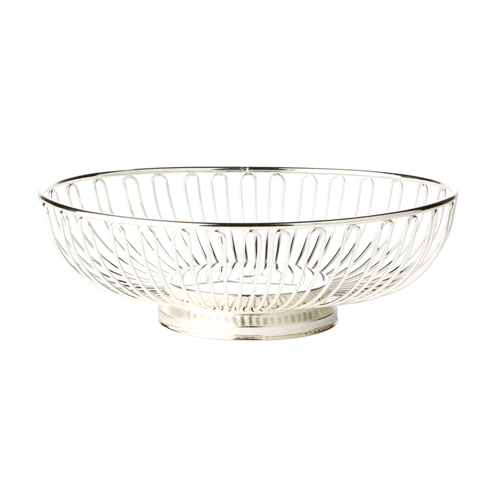 Silver Plated Oval Wire Basket 11 Quot Rentals Bright Rentals