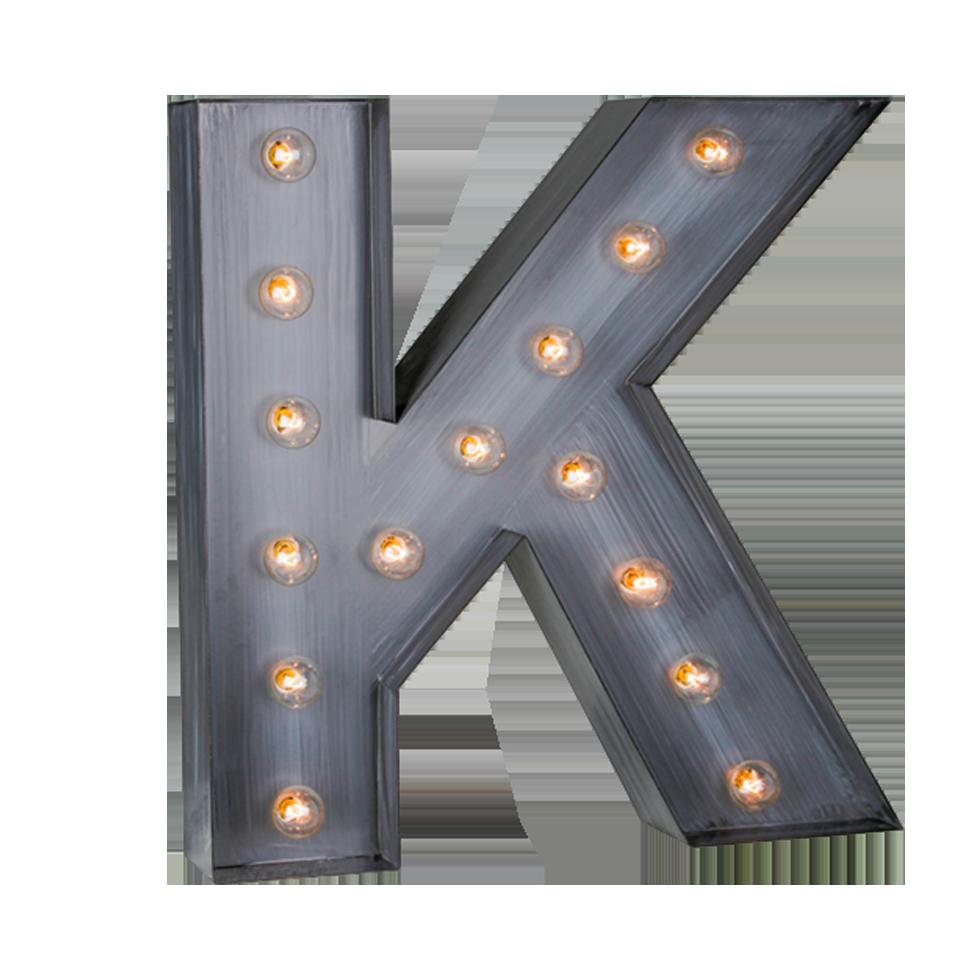 Illuminated Marquee Letter Quot K Quot Rental Bright Rentals
