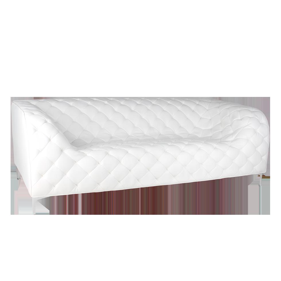 White Coco Luxe Sofa Rentals Bright Rentals